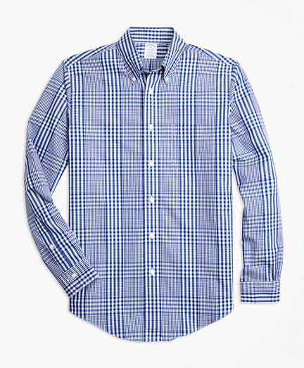 Non-Iron Regent Fit Plaid Sport Shirt
