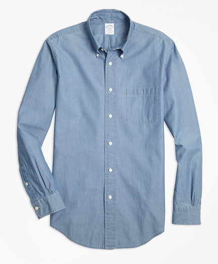 Regent Fit Indigo Chambray Sport Shirt