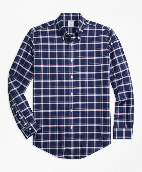 Non-Iron Regent Fit Check Sport Shirt Navy