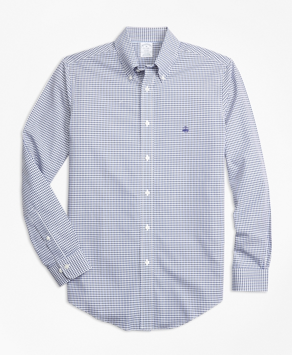 Non-Iron Regent Fit Dobby Check Sport Shirt