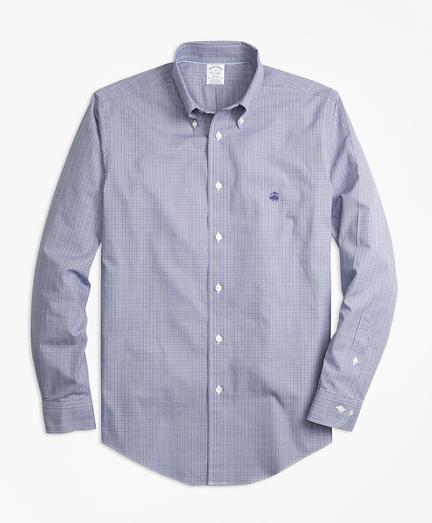 Non-Iron Regent Fit Mini-Plaid Sport Shirt