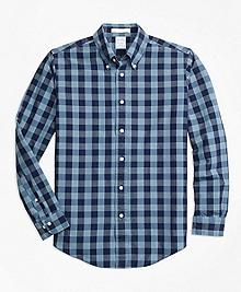 Regent Fit Indigo Gingham Sport Shirt