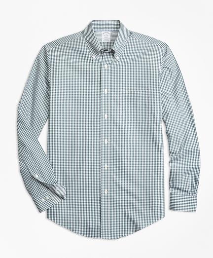 Non-Iron Regent Fit Mini-Gingham Sport Shirt