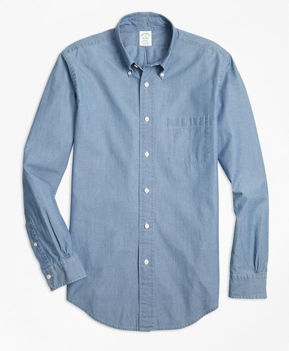 Milano Fit Indigo Chambray Sport Shirt Blue