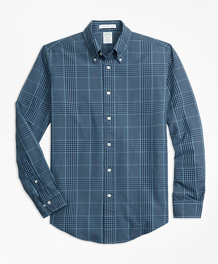 Milano Fit Indigo Glen Plaid Sport Shirt