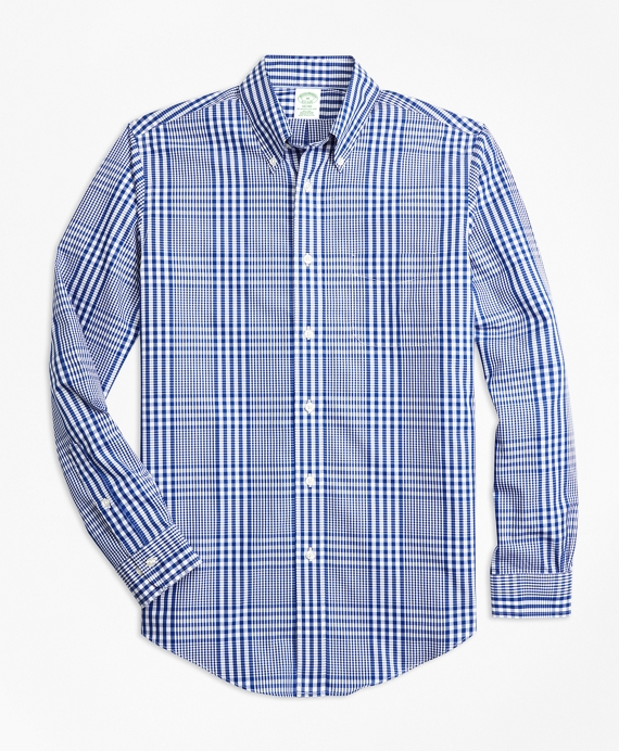 Non-Iron Milano Fit Plaid Sport Shirt