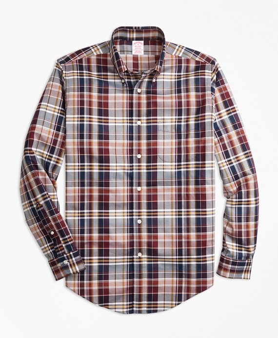 Non-Iron Madison Fit Bold Plaid Sport Shirt