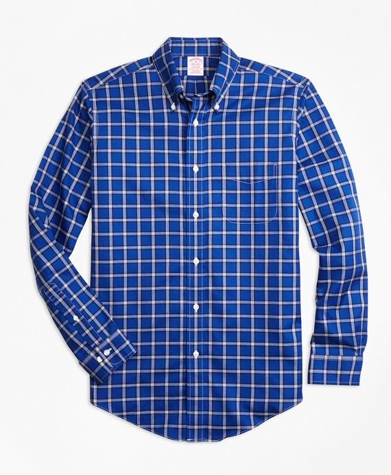 Non-Iron Madison Fit Windowpane Sport Shirt