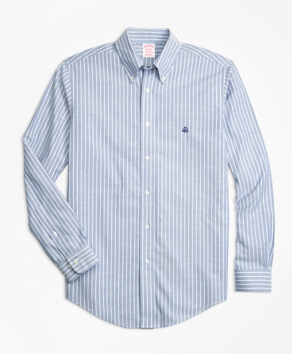 Non-Iron Madison Fit Ground Stripe Sport Shirt