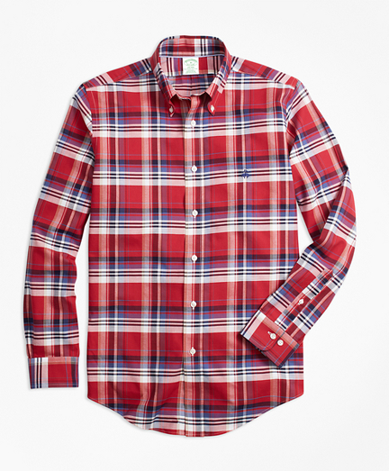 Non-Iron Milano Fit Multi-Plaid Sport Shirt