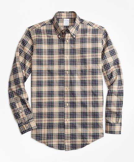 Regent Fit Multi-Plaid Flannel Sport Shirt
