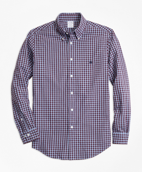 Regent Fit Brushed Oxford Gingham Sport Shirt