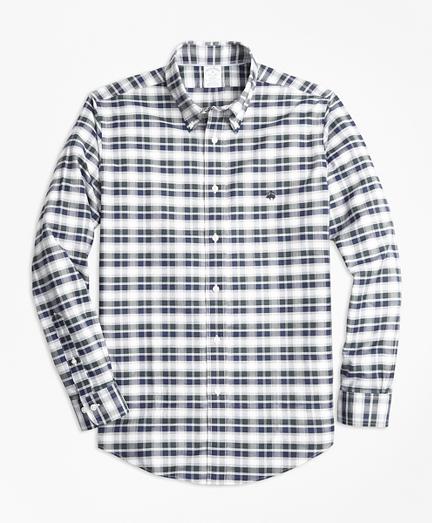 Non-Iron Regent Fit Grey Heather Plaid Sport Shirt