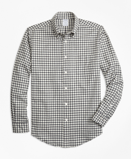 Regent Fit Luxury Gingham Flannel Sport Shirt