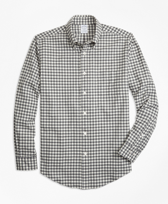 Regent Fit Luxury Gingham Flannel Sport Shirt