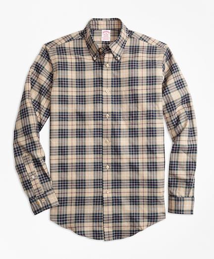 Madison Fit Multi-Plaid Flannel Sport Shirt
