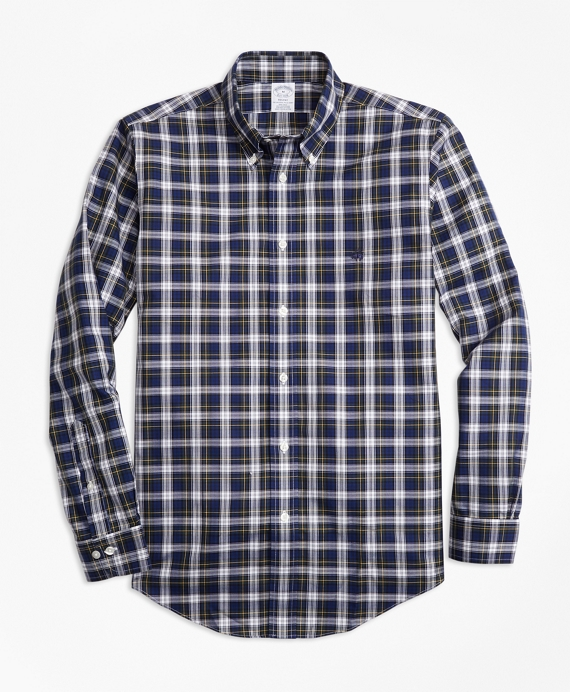 Non-Iron Regent Fit Dress Gordon Tartan Sport Shirt