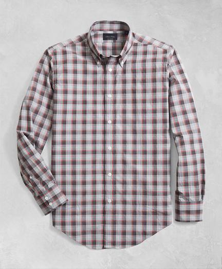 Golden Fleece® Regent Fit Multi-Plaid Flannel Sport Shirt