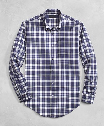 Golden Fleece® BrooksTech™ Lightweight Wool Large Plaid Sport Shirt