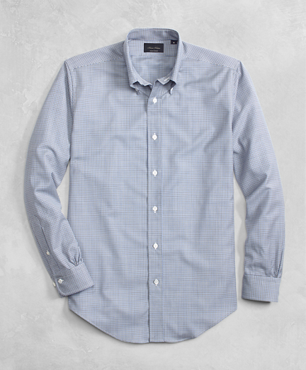 Golden Fleece® BrooksTech™ Lightweight Wool Mini Check Sport Shirt