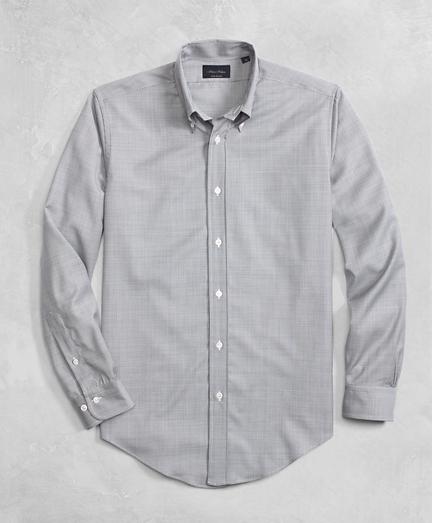 Golden Fleece® BrooksTech™ Lightweight Wool Mini Navy Check Sport Shirt