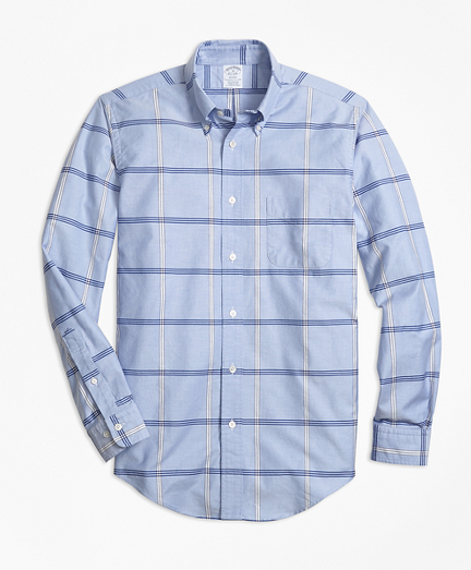 Regent Fit Oxford BB#1 Windowpane Sport Shirt