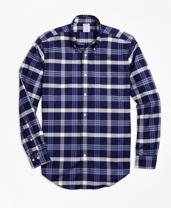 Regent Fit Oxford BB#10 Plaid Sport Shirt