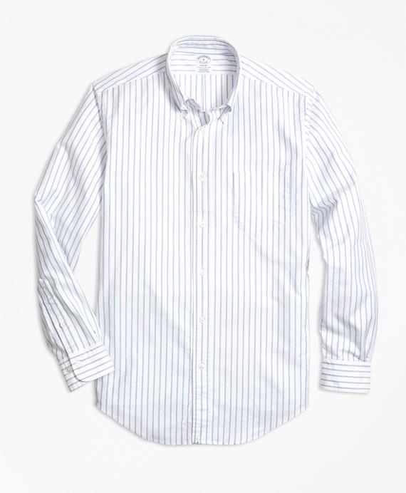 Regent Fit Oxford Small Stripe Sport Shirt
