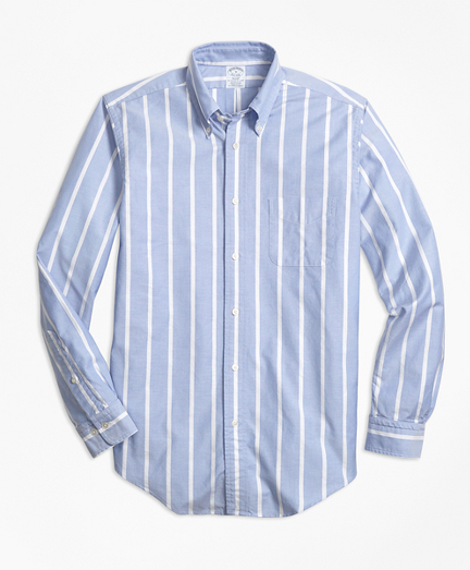 Regent Fit Oxford Wide Stripe Sport Shirt