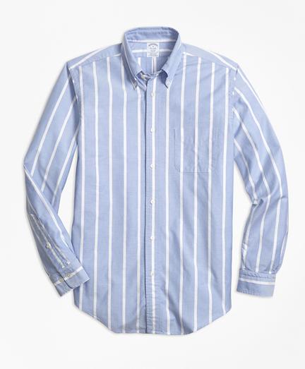 Regent Fit Oxford Wide Stripe Sport Shirt