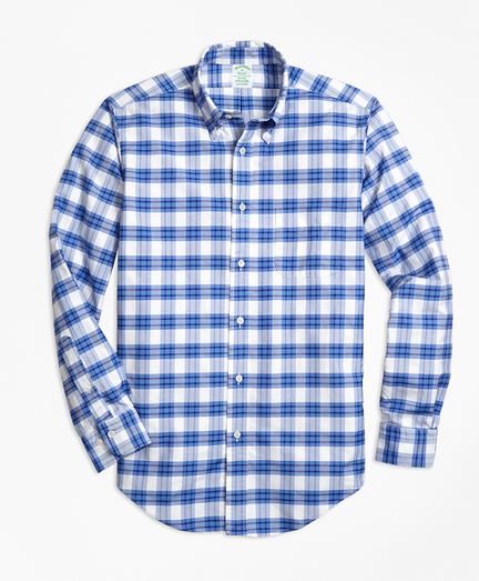 Milano Fit Oxford Plaid Sport Shirt