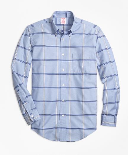 Madison Fit Oxford BB#1 Windowpane Sport Shirt