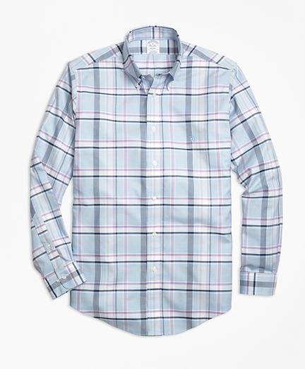 Non-Iron Regent Fit Plaid Sport Shirt