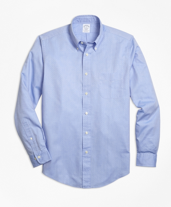 Regent Fit Dobby Micro-Diamond Sport Shirt Blue
