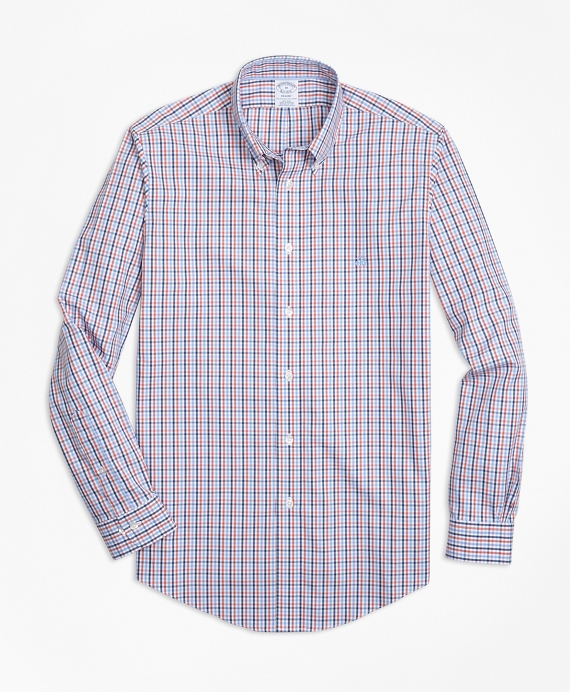 Non-Iron Regent Fit Three-Color Gingham Sport Shirt