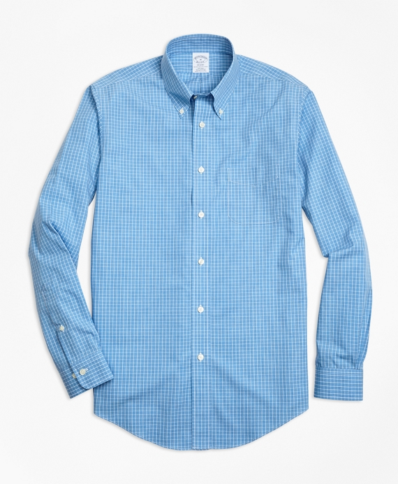 Non-Iron Regent Fit Heathered Windowpane Sport Shirt