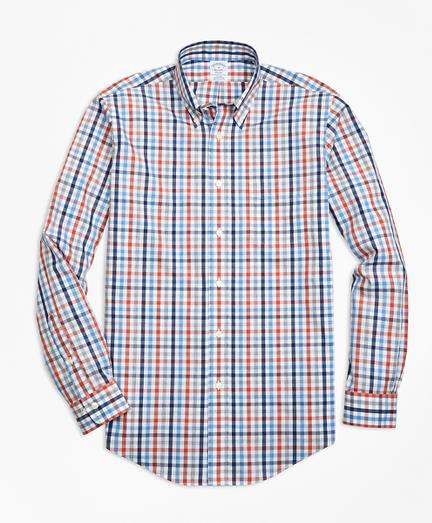 Non-Iron Regent Fit Heathered Multi-Gingham Sport Shirt