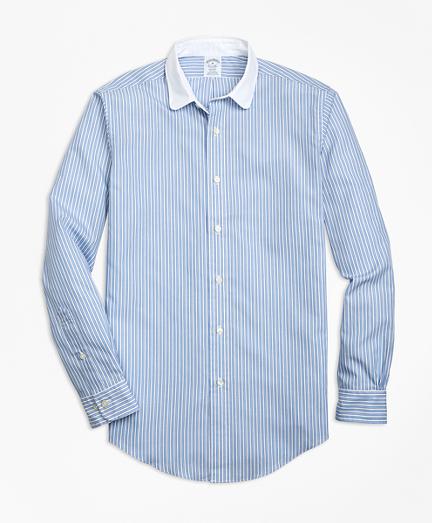 Regent Fit Outlined Stripe Sport Shirt