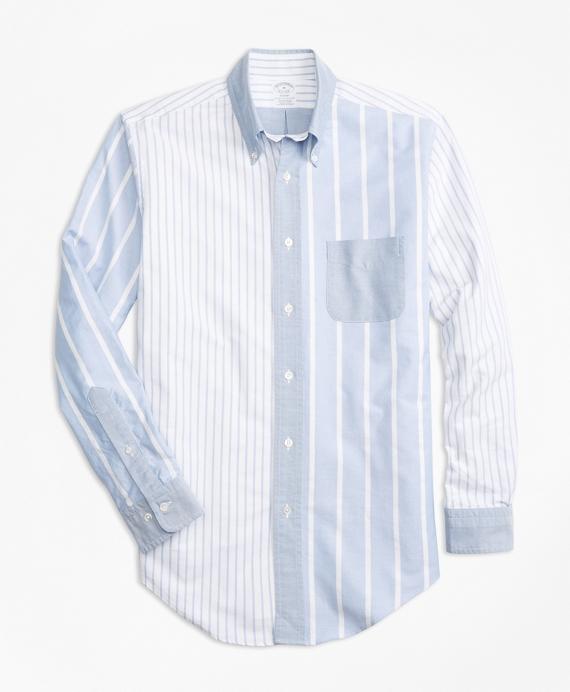 Regent Fit Oxford Fun Stripe Sport Shirt Blue