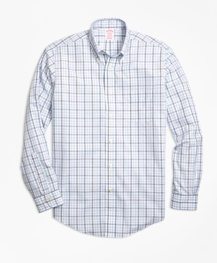 Non-Iron Madison Fit Triple-Color Windowpane Sport Shirt