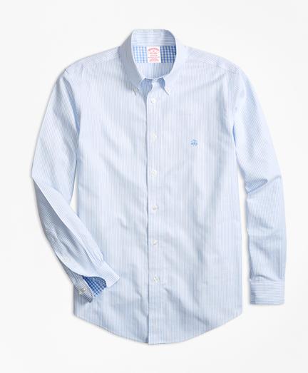 Non-Iron Madison Fit Stripe Sport Shirt