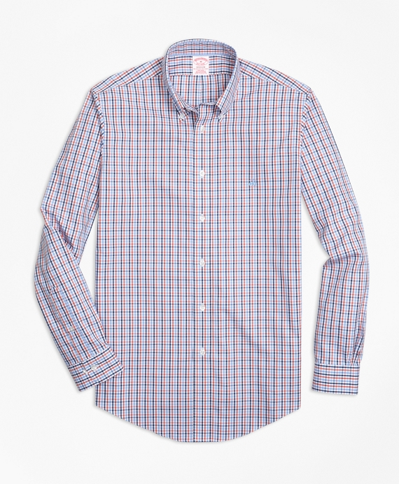Non-Iron Madison Fit Three-Color Gingham Sport Shirt