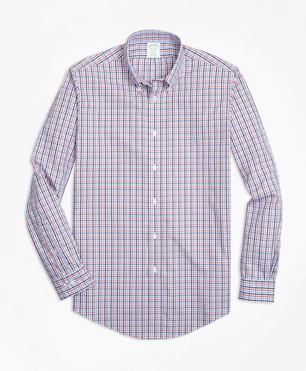 Non-Iron Milano Fit Three-Color Gingham Sport Shirt