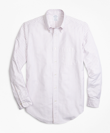 Regent Fit Oxford Outline Stripe Sport Shirt
