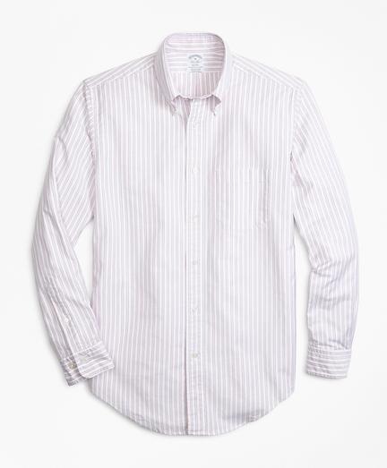 Regent Fit Oxford Outline Stripe Sport Shirt