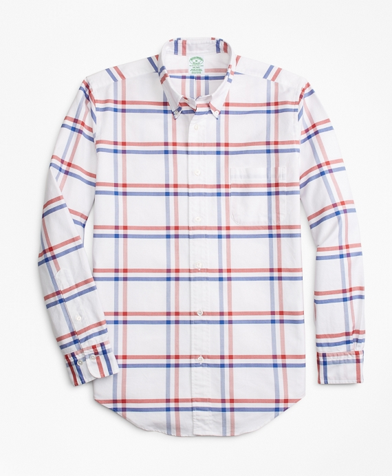 Milano Fit Oxford Windowpane Sport Shirt