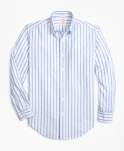 Madison Fit Oxford Alternating Stripe Sport Shirt
