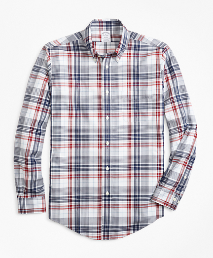 Non-Iron Regent Fit Dobby Plaid Sport Shirt