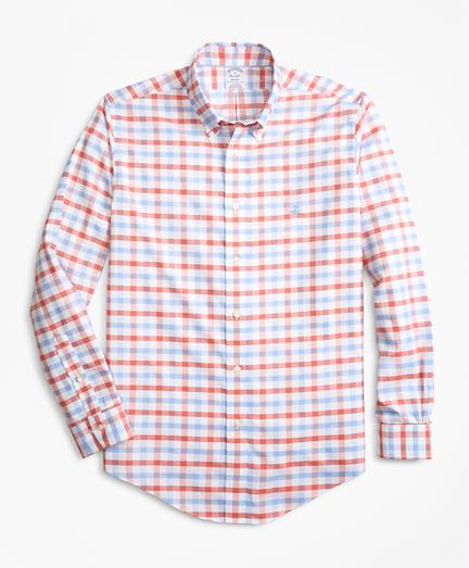 Non-Iron Regent Fit Dobby Gingham Sport Shirt