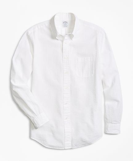 Regent Fit Seersucker Sport Shirt